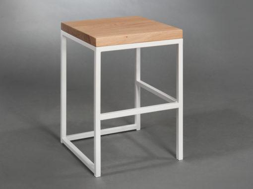 Hocker Cuboid Serie Simpel Farbe Weiß