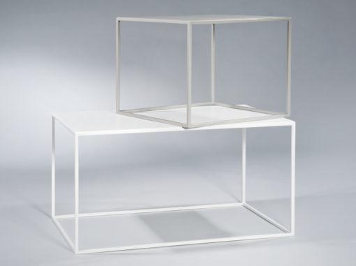 Tische Compact Plus Serie Garage Weiß/grau