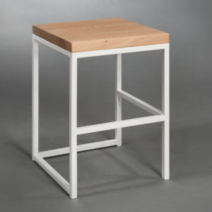 Taboret Cuboid Seria Simple Color White
