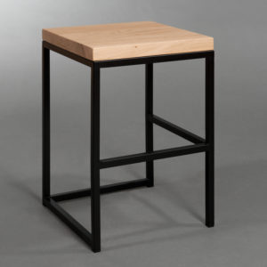 Taboret Cuboid Seria Simple Color Black
