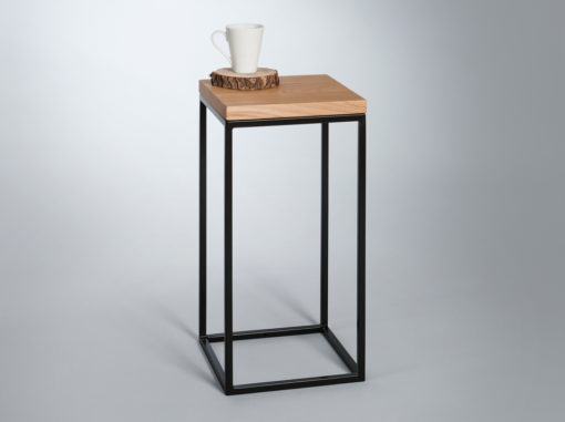 Top Wood Table Mountain Line Black Colour