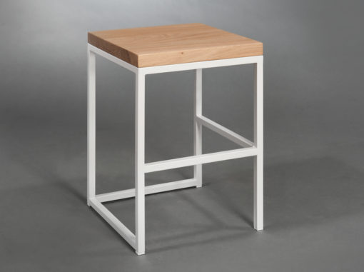 Cuboid Stool Simple Line White Colour