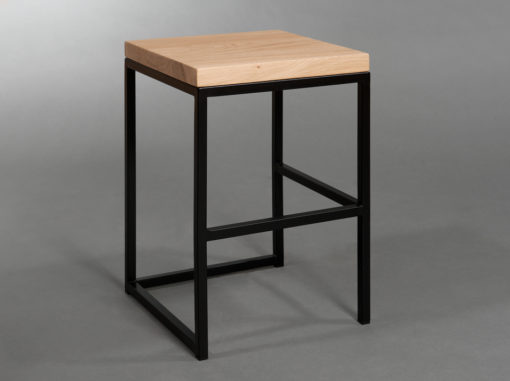Cuboid Stool Simple Line Black Colour