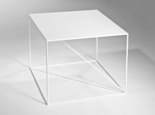 Euklides Table Geometric Line White Colour