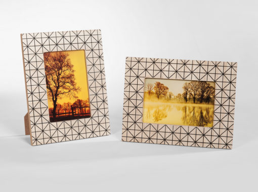 Triangle Photo Frame Art Line