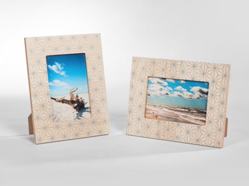 Star Photo Frame Art Line