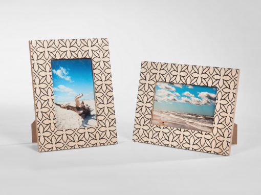 Flower Photo Frame Art Line